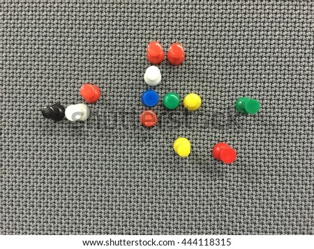 close-up of pins - stock photo