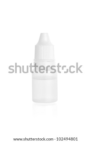 close up of plastic bottle isolated on white background - stock photo