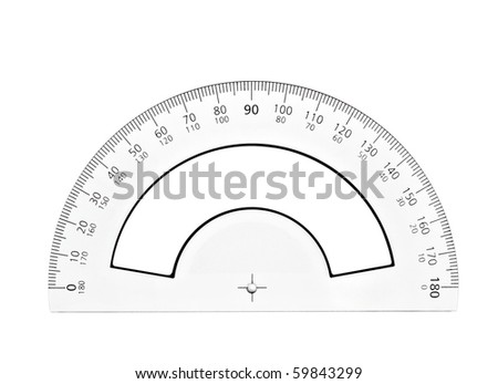Protractor paper model cut out print stock vector 659263645 close up of plastic transparent ruler on white background with clipping path pronofoot35fo Gallery