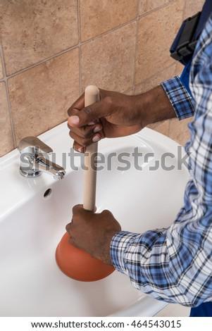 unblocking sinks stock images royalty free images vectors shutterstock. Black Bedroom Furniture Sets. Home Design Ideas