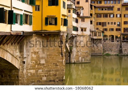 Close up of Ponte Vecchio, Florence, Italy