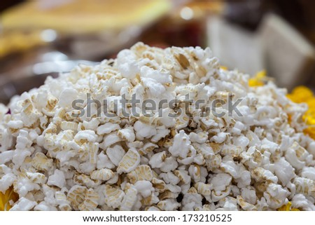 Close up of popcorn - stock photo