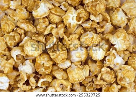 Close Up of  Popcorn background. - stock photo