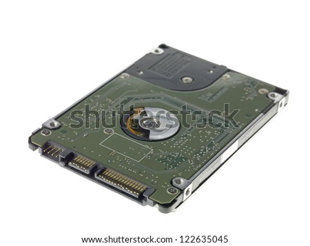 Close-up of portable hard drive. - stock photo