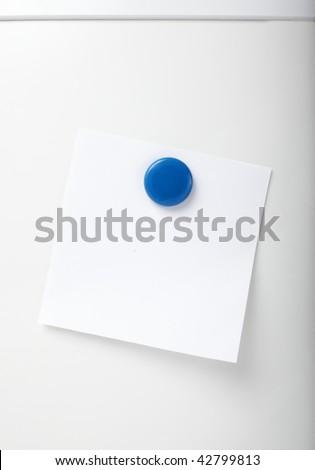 close up of postit reminder on white background refigerator - stock photo