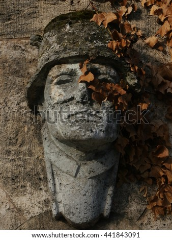 Close-up of public monument  killed soldiers in Germany - stock photo
