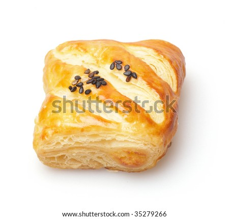 close-up of  puff pastry - stock photo