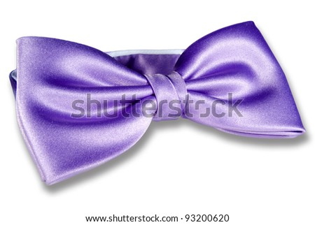 Close-up of purple bow-tie - stock photo