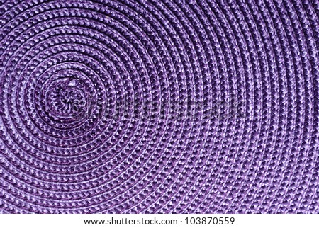 Close-up of purple food stands. The spiral structure. On the side. - stock photo