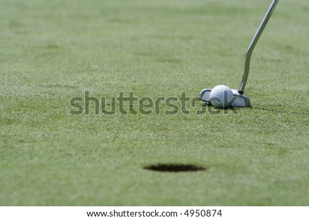 Close Up of Putt - stock photo