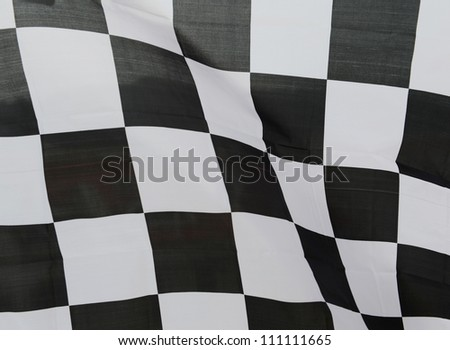 close-up of racing flag, background. - stock photo