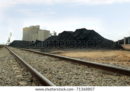 close-up of rail freight train, with selective focus - stock photo