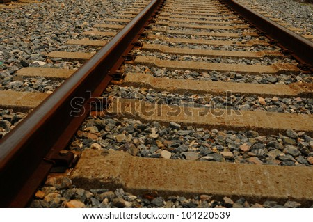 Close up of railroad tracks with rocks