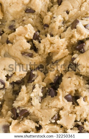 Close up of raw cookie dough - stock photo