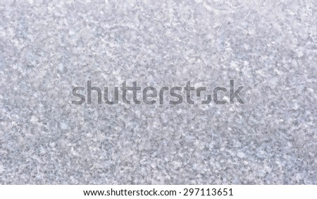 Close up of real snow - stock photo