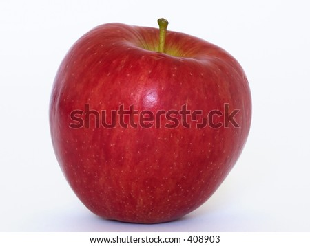 Close up of red apple - stock photo