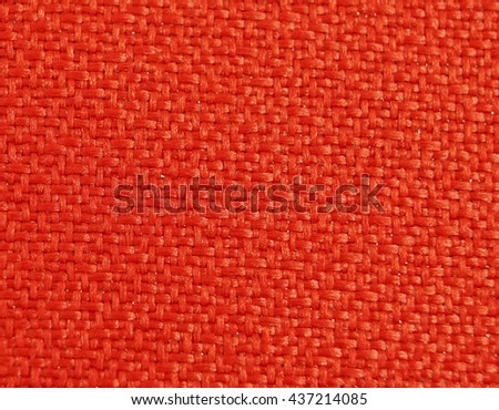 close up of red cloth show texture and weave - stock photo