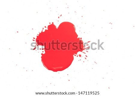 close up of red drops on white background