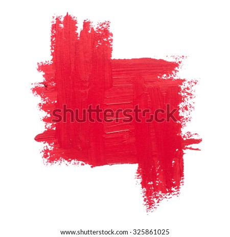close up of red  lipstick texture background