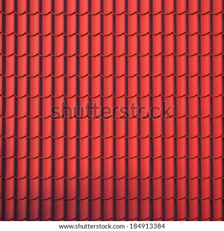 Close Red Roof Texture Stock Photo Royalty Free