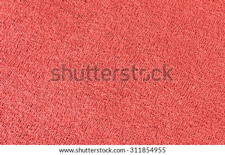 Close up of red rubber floor background.  - stock photo