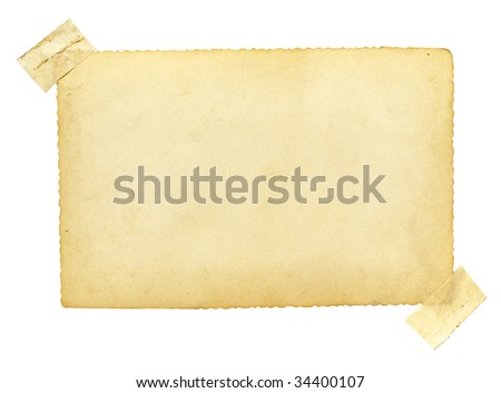 close up of reminder old photo texture on white background with clipping path - stock photo