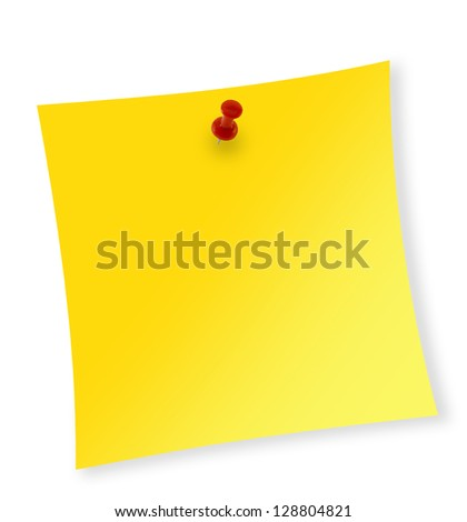 Close up of reminder on white background with clipping path