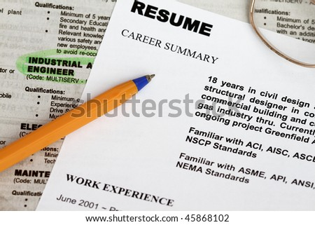 close resume form ads concept unemployment stock photo royalty free