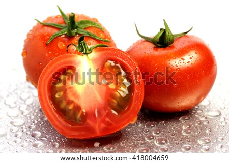 Close up of ripe tomatoes  - stock photo