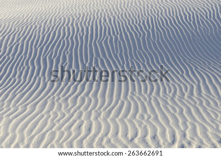Close-up of Rippled Patterns in Sand Dunes - stock photo