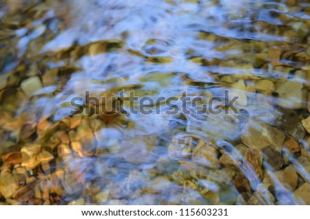 Close up of river - stock photo