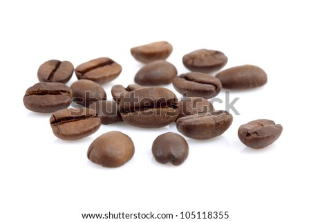 Close up of roasted coffee beans,selective focus