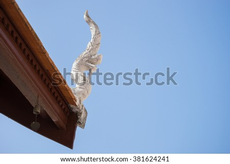 Close up of roof in Temple, Thailand