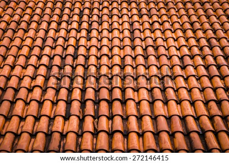 Close up of roof texture. - stock photo