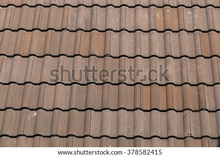 close up of roof texture