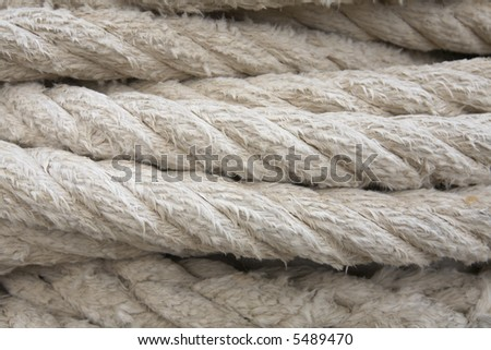 close-up of rope in the harbor - stock photo