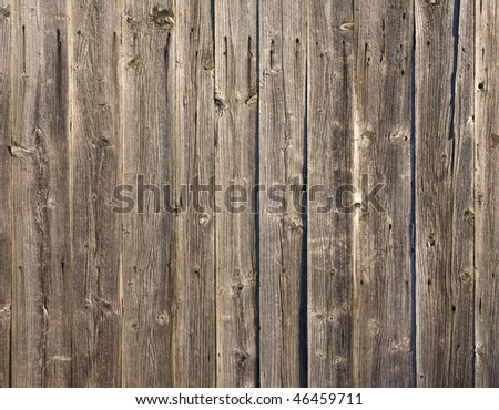 Close up of rough weathered wooden boards background - stock photo