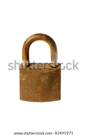 close up of rusty lock, give a person a kind of nostalgic feeling