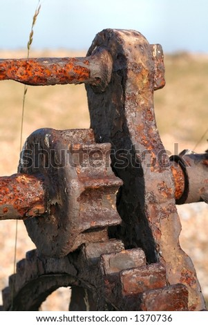 Close-up of rusty old machine - stock photo
