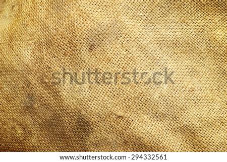 close up of sack texture - stock photo