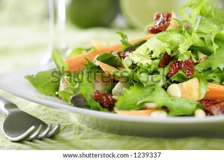 close-up of salad - stock photo