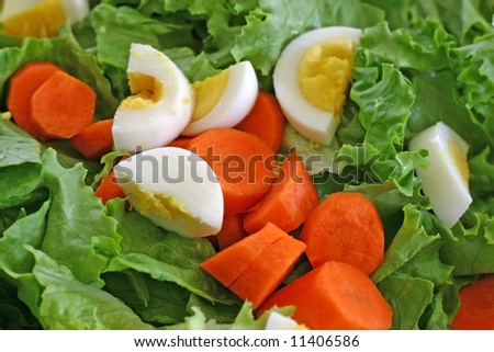 close up of salad in a salad bowl - stock photo