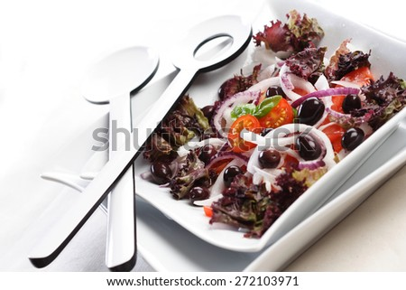 Close up of salad in bowl - stock photo