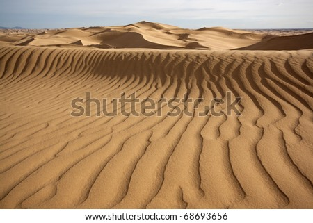 Close up of sand dune - stock photo