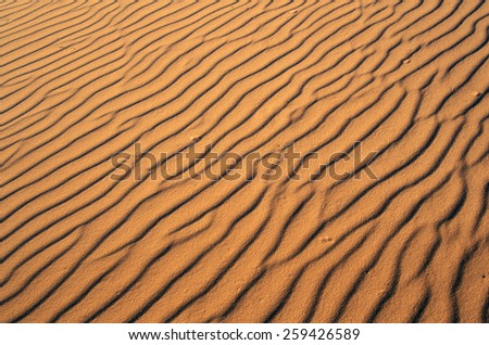 Close up of sand in Coral Pink Sand Dunes State Park, southern UT - stock photo