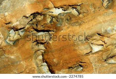 Close-up of sandstone from the Great Basin area of Nevada - stock photo