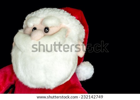 Close up of Santa in red suit