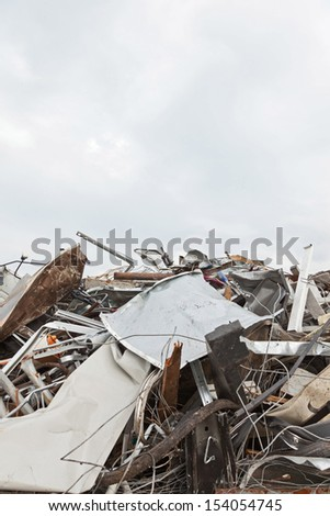 Close-up of scrap. Abstract pattern. Background. - stock photo