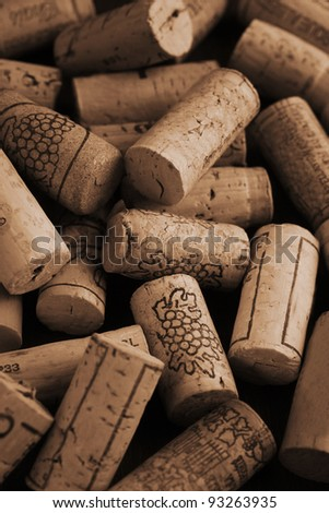 Close up of several wine corks as a background - stock photo