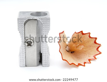 close up of sharpener on white background, with clipping path, shadow not included - stock photo